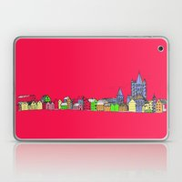 Sketchy Town In Pink Laptop & iPad Skin