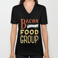 Bacon is a Food Group Unisex V-Neck