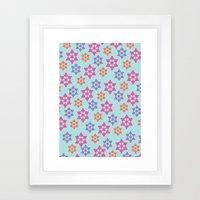 Snowflake Pattern in Jewel Tones Framed Art Print