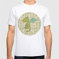 baby dragon liam Mens Fitted Tee Ash Grey SMALL