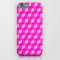 iPhone & iPod Case featuring Geometric Series (Pink) by Matthew Kel