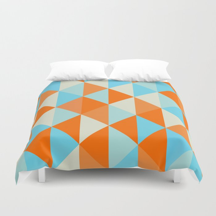 Orange And Blue Duvet Cover By Capturedbysam Society6