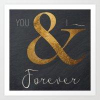 Typography Forever  Art Print