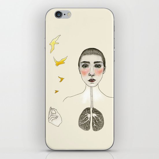 kara akciğer iPhone & iPod Skin