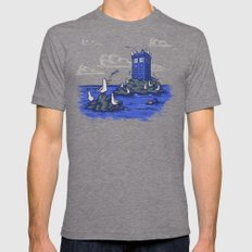 The Seagulls have the Phonebox Mens Fitted Tee Tri-Grey SMALL