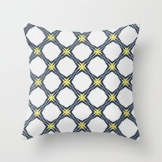 Just Another Tiles Pattern (blu version) Throw Pillow