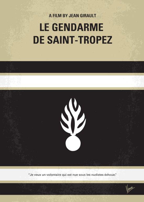 No186 My Le Gendarme de Saint-Tropez minimal movie poster Art Print
