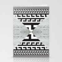 waves/grid #5 Stationery Cards