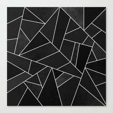 Black Stone Canvas Print