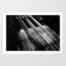 View on South Yarra station, Melbourne Art Print