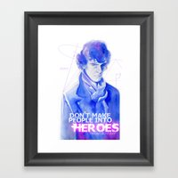 Consulting Detective Framed Art Print