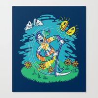 The Not-So-Grim Reaper Canvas Print