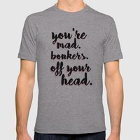 Bonkers Mens Fitted Tee Athletic Grey SMALL