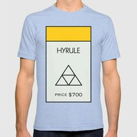 Hyrule Monopoly location Mens Fitted Tee Tri-Blue SMALL