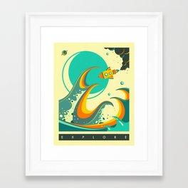Framed Art Print - EXPLORE - Jazzberry Blue