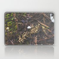 White Mushroom on Forest Floor Laptop & iPad Skin