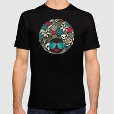 Black head. SMALL Black Mens Fitted Tee