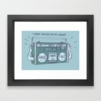 I Hear Voices In My Head Framed Art Print