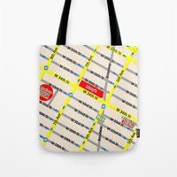 New York map design - empire state building area Tote Bag