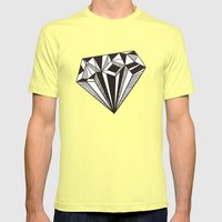 Diamond Mens Fitted Tee Lemon SMALL