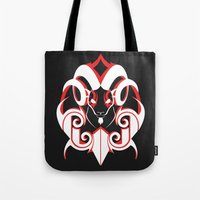 Warrior (White & Red) Tote Bag