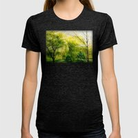 Waiting for Spring Womens Fitted Tee Tri-Black SMALL