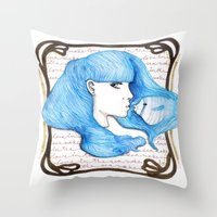 Make love in the Sea Throw Pillow