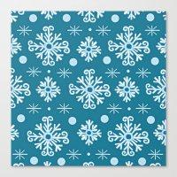 Snowflake Pattern Canvas Print