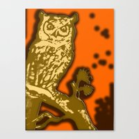 My Eyes Are Up Here #1 Canvas Print