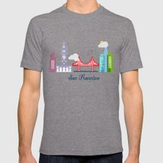 what a colorful city San Francisco, CA. v2. Mens Fitted Tee Tri-Grey SMALL