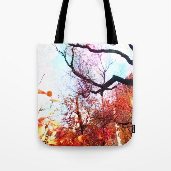 Color Blocked Tote Bag