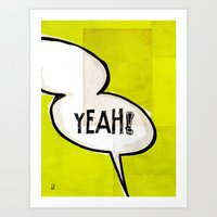 Comic Book: Yeah! Art Print
