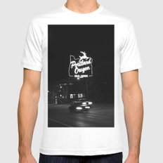 Portland BW White Mens Fitted Tee SMALL