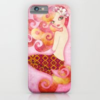 iPhone & iPod Case featuring Coraleen, Mermaid in Pink by Sandra Vargas