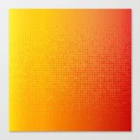 Yellorange Dots Canvas Print