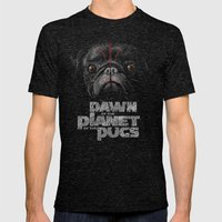 Dawn Of The Planet Of Th… Mens Fitted Tee Tri-Black SMALL
