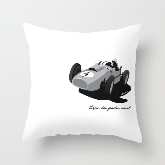 Fearless Count Black & White Throw Pillow