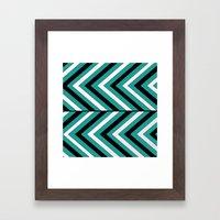 Pattern Turquoise 1 Framed Art Print