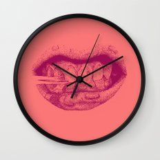 Gum Mouth Wall Clock