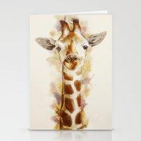 giraffe Stationery Cards featuring giraffe by beart24