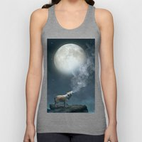 The Light of Starry Dreams (Wolf Moon) Unisex Tank Top