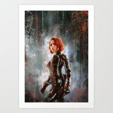 Black Widow Art Print