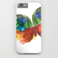 iPhone & iPod Case featuring colorful butterfly by Hande Unver