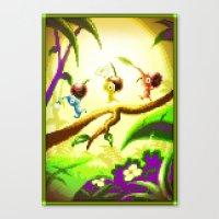 Pixel Art series 14 : Nature Canvas Print