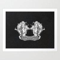 Mesi And Cora Art Print