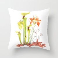My Pitcher Plant Bog Throw Pillow