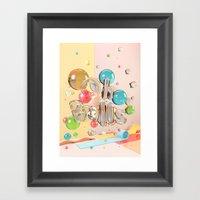 Oh Balls - Ch Typography… Framed Art Print