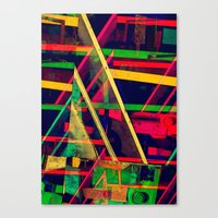 Industrial Abstract Gree… Canvas Print
