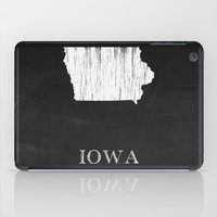 Iowa State Map Chalk Drawing iPad Case