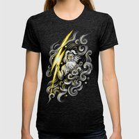 Zeus Womens Fitted Tee Tri-Black SMALL
